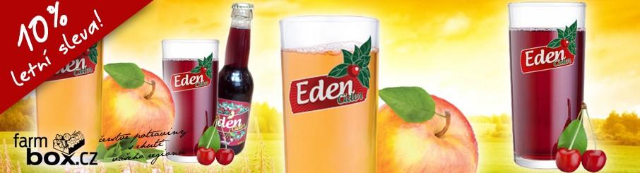 Eden cider jablečný, višňový a hruškový