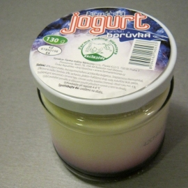 Farmářský jogurt s příchutí borůvka 150 g