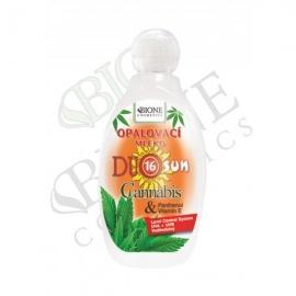 Opalovací mléko DUO SUN OF 16 Cannabis a Panthenol