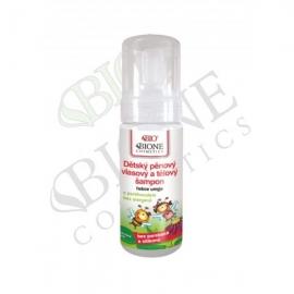 Dětský pěnový vlasový a tělový šampon 150 ml