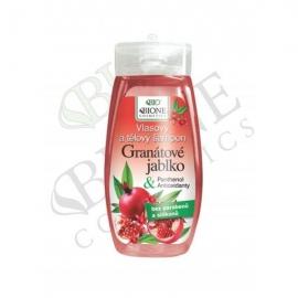 Vlasový a tělový šampon GRANÁTOVÉ JABLKO s antioxidanty 255 ml