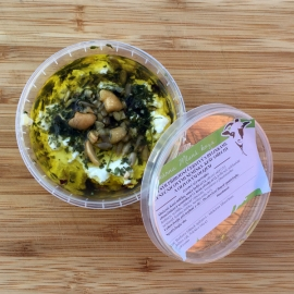Kozí sýr přírodní čerstvý s bylinkami,semínky a ořechy 100g