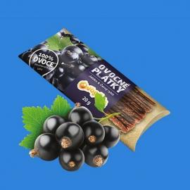 Ovocné plátky 20g - jablko, černý rybíz