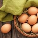 Farmářská vejce od šťastných slepic