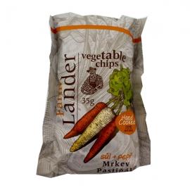 Chipsy FarmLander mrkev - pastiňák - pepř - sůl 35g