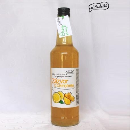 Sirup zázvor s citrónem 500ml