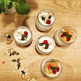 Smetanový dezert (sklenička)