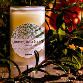 Přírodní deodorant citro máta, rozmarýn a grep malý