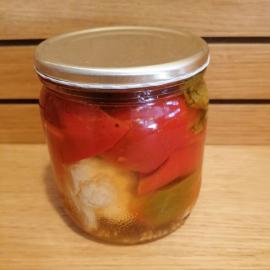 Rajčatová paprika naložená s květákem 350 ml