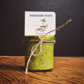 Bazalkové pesto vegan 165 ml