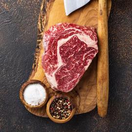 BIO hovězí steak RIB EYE 300g