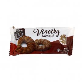 Věnečky kakaové bez lepku a palmového tuku 100g