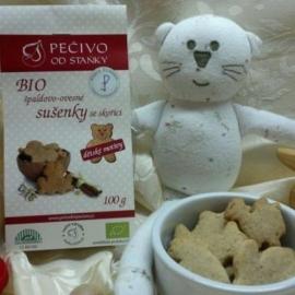 Bio špaldovo-ovesné sušenky se skořicí pro děti 100g