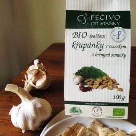 BIO špaldové křupánky s česnekem a lněnými semínky 100g