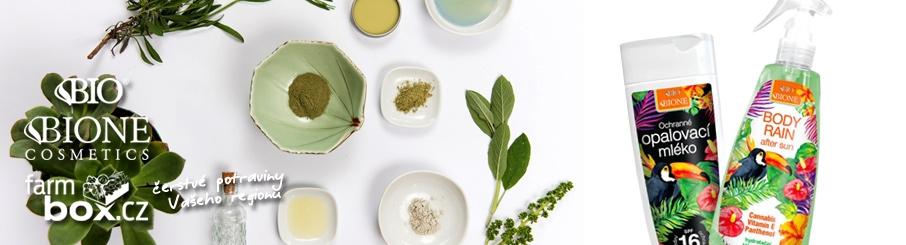 Přírodní produkty Bione na a poopalování