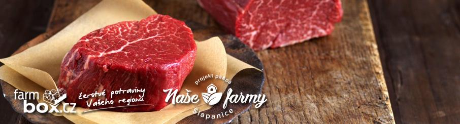 Naše Farmy - Hovězí steaky z plemene ČESTR